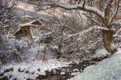 Komshtitsa village, Bulgaria - winter picture Stock Photo