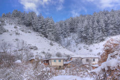 Komshtitsa village, Bulgaria - winter picture Royalty Free Stock Images