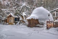 Komshtitsa village, Bulgaria - winter picture stock photography