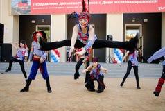 Komsomolsk--Amur, Ρωσία, την 1η Αυγούστου 2015 Ημέρα του railwayma στοκ φωτογραφία με δικαίωμα ελεύθερης χρήσης