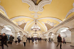 komsomolskaya地铁车站 免版税库存照片