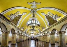 Komsomolskaya (Koltsevaya linia) stacja Moskwa metro obraz royalty free