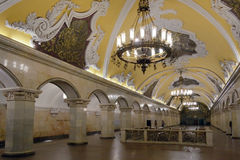 Komsomolskaya, station de métro de Moscou Photo stock