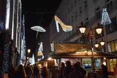 Komst in Boedapest Stock Foto's