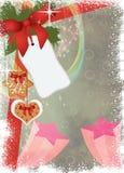 Komst of Kerstmisachtergrond Stock Foto