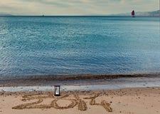 2014 komt aan Eilat-stad, Israël Royalty-vrije Stock Foto