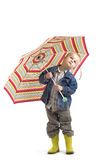 Komt de Regen? Stock Foto