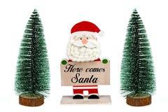 Komt hier Kerstman royalty-vrije stock afbeeldingen