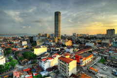 Komtar,乔治城,槟榔岛, HDR的马来西亚 库存照片