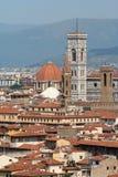 komunalne pejzaż Florence Włochy Obrazy Stock