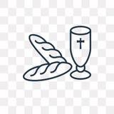Komuni wektorowa ikona na przejrzystym tle, liniowym ilustracja wektor