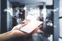 Komunikaci i technologii pojęcie obrazy royalty free