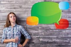 Komunikaci i technologii pojęcie Zdjęcie Stock