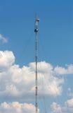 Komunikaci mobilnej antena Fotografia Stock