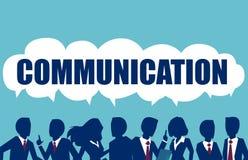 Komunikaci, pracy zespołowej i związku wektoru pojęcie, royalty ilustracja