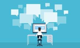 Komunikacja biznesowa na kreskowym sieci pojęciu Obraz Stock