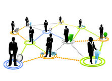 komunikacja globalna ilustracji