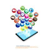 Komunikacja mobilna projekt Obrazy Royalty Free