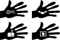 komunikacja podręcznej royalty ilustracja