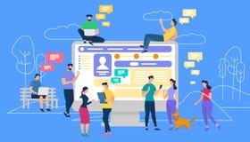 Komunikacja przez interneta, Ogólnospołeczny networking royalty ilustracja