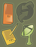 komunikacje zielenieją ikony ilustracja wektor