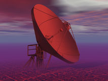 KOMUNIKACYJNA antena satelitarna Fotografia Royalty Free