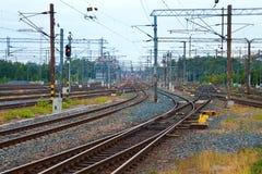 komunikacyjna linia kolejowa Obraz Royalty Free