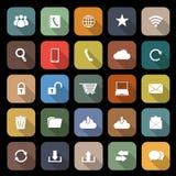 Komunikacyjna płaska ikona z długim cieniem Fotografia Stock