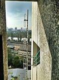 Komunikacyjne anteny wspinać się outdoors Obraz Royalty Free