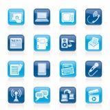 Komunikacyjne i podłączeniowe ikony Obraz Stock