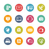 Komunikacyjne ikony -- Świeże kolor serie Zdjęcia Stock
