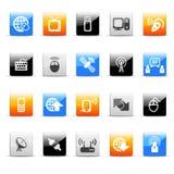komunikacyjne ikony Obrazy Stock