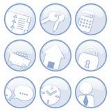 komunikacyjne ikony Zdjęcia Royalty Free