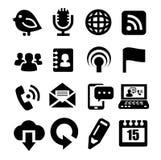 Komunikacyjne ikony Fotografia Royalty Free