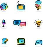 Komunikacyjne ikony 3 ilustracji