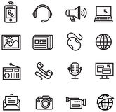 Komunikacyjne ikony Obraz Royalty Free