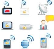 komunikacyjne ikony Fotografia Stock