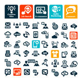 komunikacyjne ikony ustawiają sieć Fotografia Stock