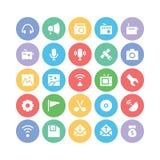 Komunikacyjne Wektorowe ikony 4 Zdjęcie Royalty Free