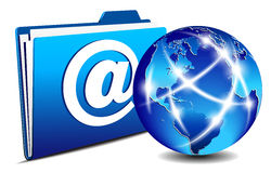 komunikacyjnego emaila skoroszytowy internetów świat Obraz Royalty Free