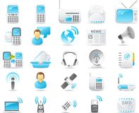 komunikacyjnego ikony nouve ustalony radio Zdjęcie Stock