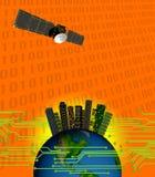 KOMUNIKACYJNEJ satelity łączliwość Ilustracji