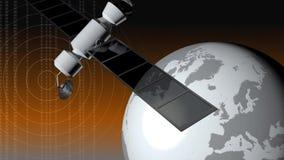 Komunikacyjnej satelity orbita royalty ilustracja