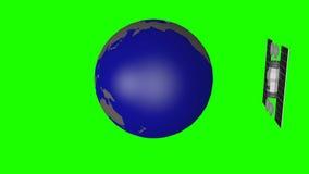 Komunikacyjnej satelity orbita wokoło ziemi ilustracja wektor