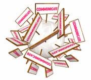 Komunikacyjni znaki royalty ilustracja