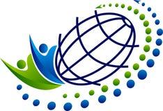 Komunikacyjny światowy logo ilustracji