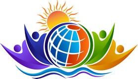 Komunikacyjny światowy logo ilustracja wektor