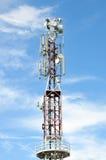 komunikacyjny anteny wierza Zdjęcia Royalty Free