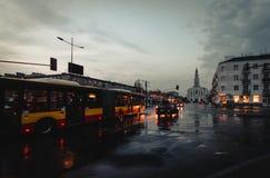 Komunikacyjny autobus w Warszawa Obrazy Stock