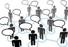 komunikacyjny everybodys sieci mowy target108_0_ Obraz Royalty Free